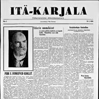 16.03.1944 Itä-Karjala no 5 -- HUOMAA sivun vasemmassa reunassa oleva valikko. A-kirjaimesta saa esille sivun tekstin copy-paste -muodossa.